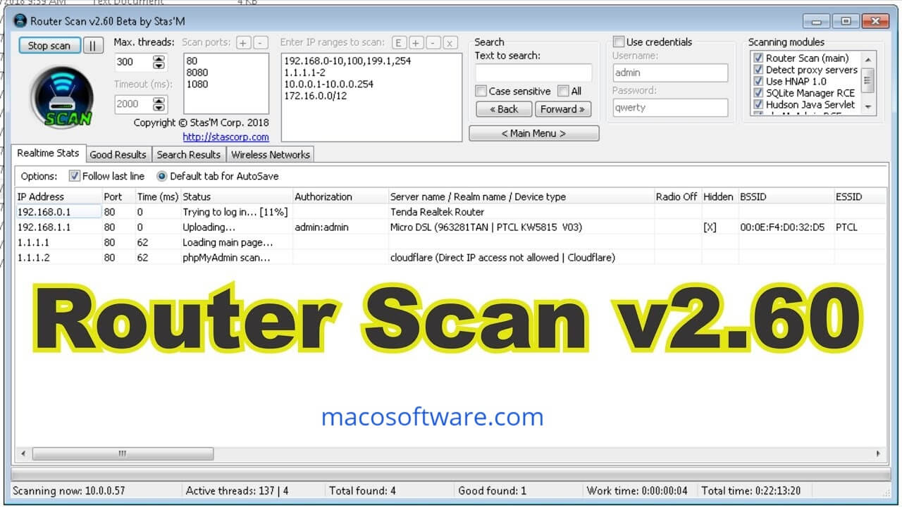 Router Scan Full Version 2.60 Free Download