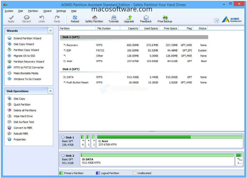 AOMEI Partition Assistant 8.8 Crack Plus Serial Key Full Version Download