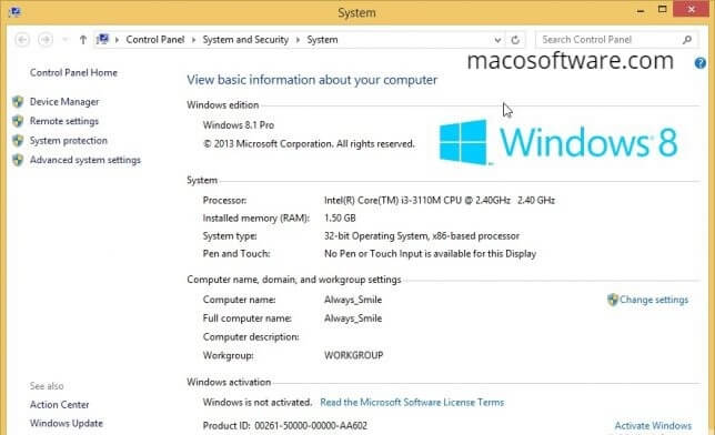 Windows 8.1 Activator Product Key With Full Latest Version