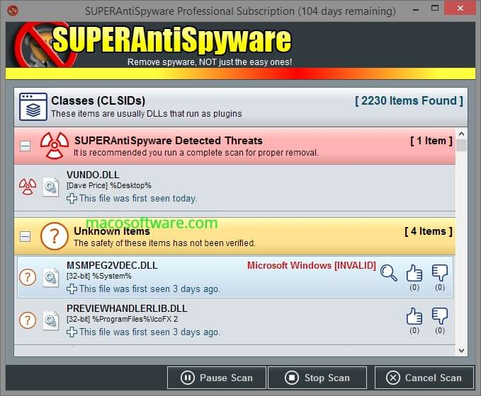 SUPERAntiSpyware registration code