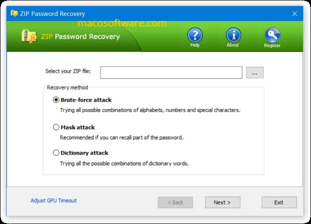 ZIP Password Recover download